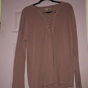 express lace up long sleeve